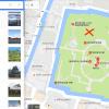 グーグルマップの位置を細かく指定して地図表示する方法。広い番地や土地の中で任意の場所を表示したい。