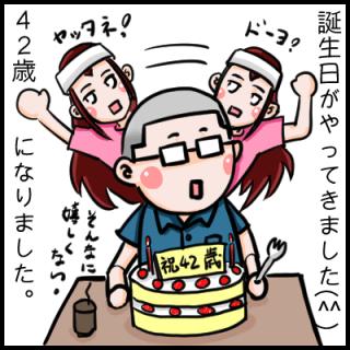 今日、誕生日です(^^)