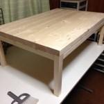 ローテーブル組み終わった。