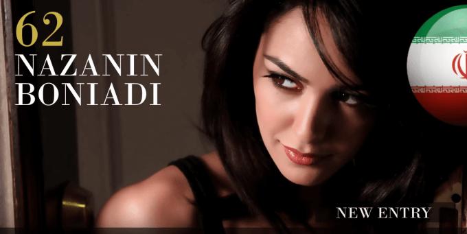 ナザニン・ボニアディ 世界で最も美しい顔100人