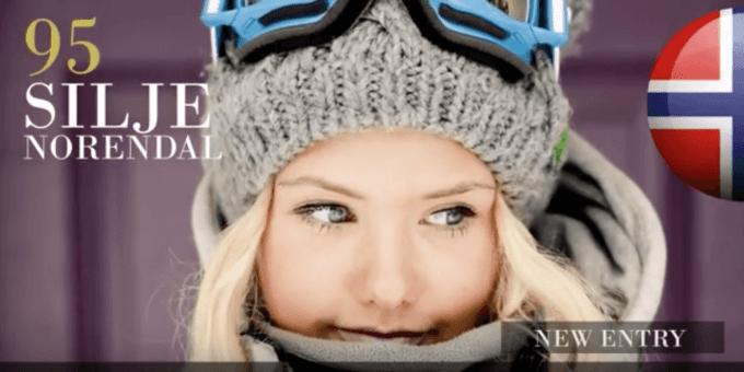 シリエ・ノレンダル 世界で最も美しい顔100人