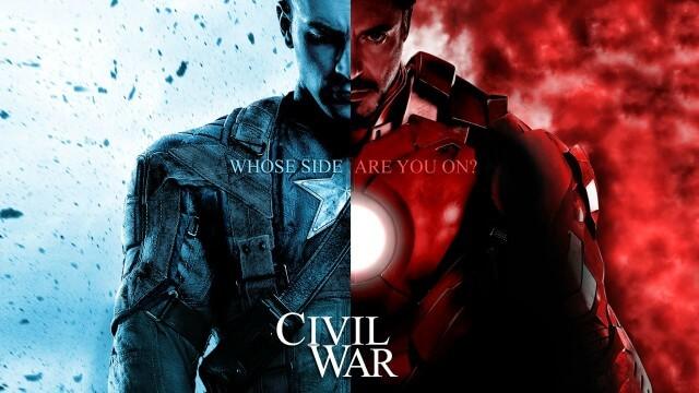 マーベル映画の大人気ヒーローアイアンマンとキャプテンアメリカの画像