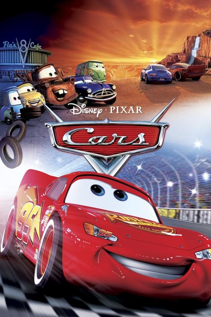 カーズ映画シリーズ『カーズ1(2006)』の登場キャラクターとポスター画像