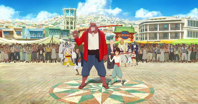 細田守監督の代表作品『バケモノの子』の登場人物の映画ポスターの画像