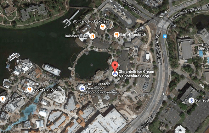 Disney Springs Google Map
