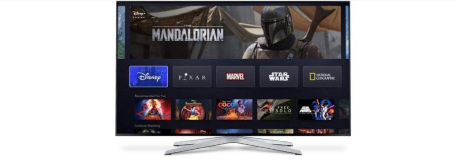 De interface van Disney+ lijkt erg op concurrent Netflix
