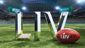 Logo van de 54ste Super Bowl