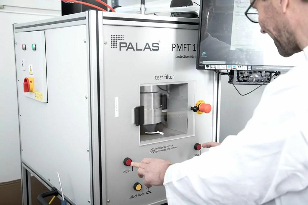 Qualitätssicherung der D/Maske durch Palas®-Prüfstand