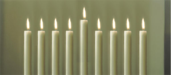 Gerhard Richter Chanukah Candles