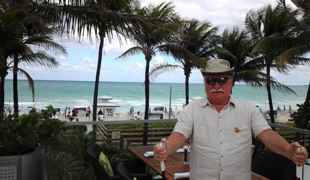 Lech Wałęsa znów spędza wakacje na Florydzie [ZDJĘCIA]