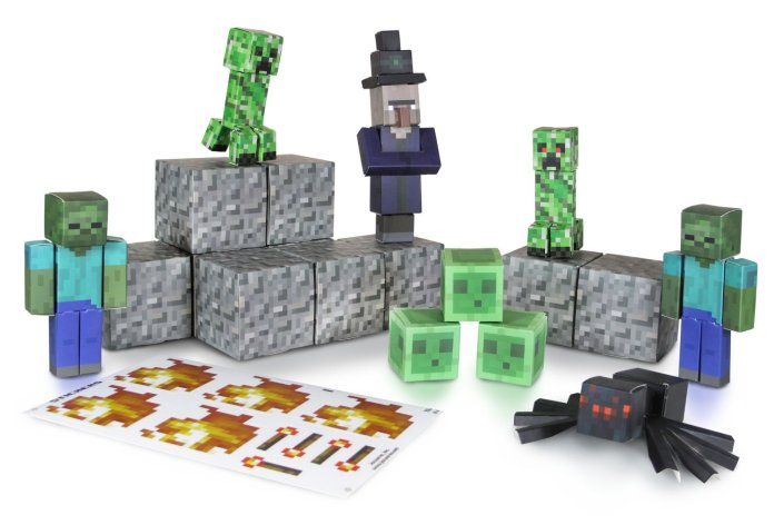 minecraft-papercraft-hostile-mobs