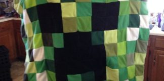Minecraft Quilt Blanket DIY