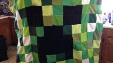 Minecraft Quilt Blanket DIY