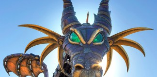 steampunk dragon maleficent float walt disney world wdw