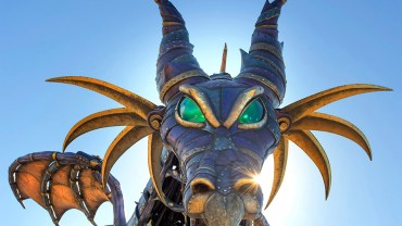steampunk dragon maleficent float walt disney world wdw