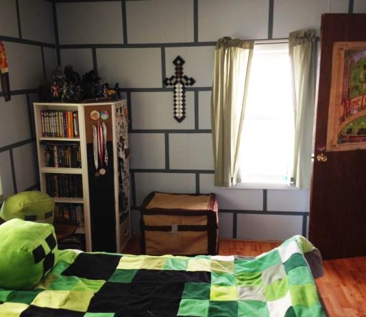 minecraft diy bedroom