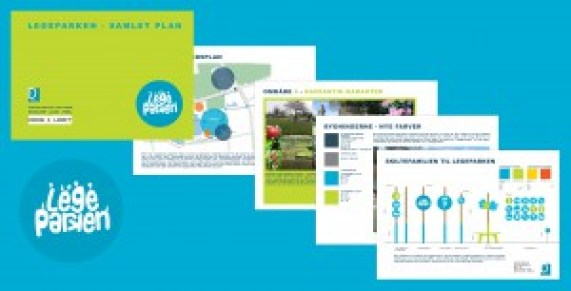 Legeparken i Kolding - skiltning, farvesætning. legeskulpturer og helhedsplan i samarb. m. MOOS + LOOFT