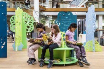 Kolding Bibliotek Fang Fortællingen design til børnebiblioteker #børnebiblioteker #designtilbørn designtegnestuen designtegnestue D-sign Tegnestuen