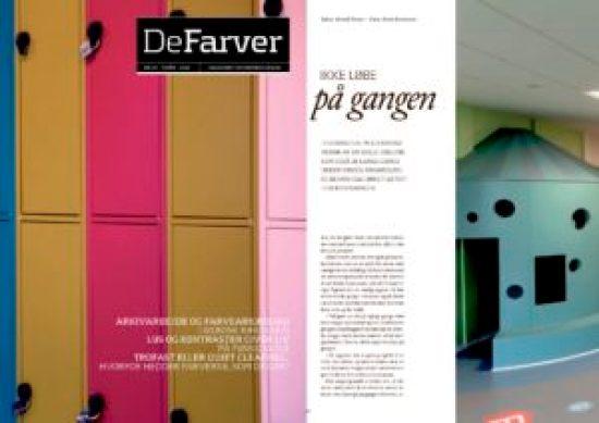 D-sign Tegnestuen I tidsskriftet DeFarver - indretning og farvesætning i DeFarver - flot design - flot farvesætning - farvesætning der ændrer adfærd
