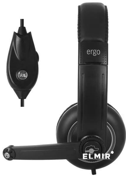 Наушники Ergo VM-280 Black купить   ELMIR - цена, отзывы ...