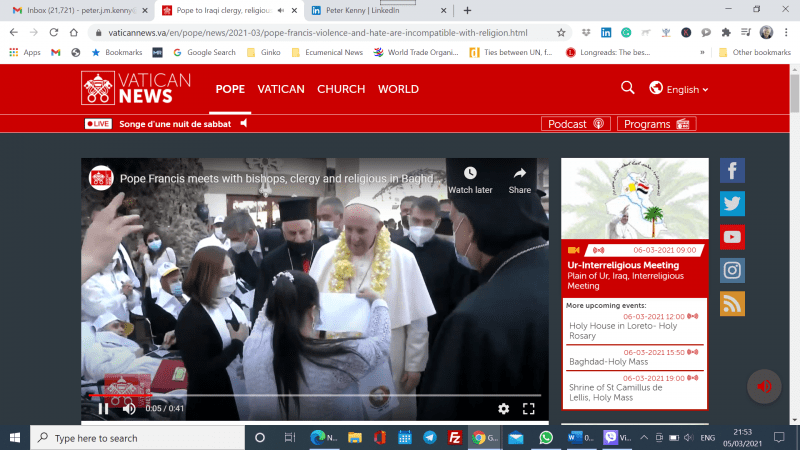 Pope Francis in Iraq for 'difficult journey' to bolster Christians and peace