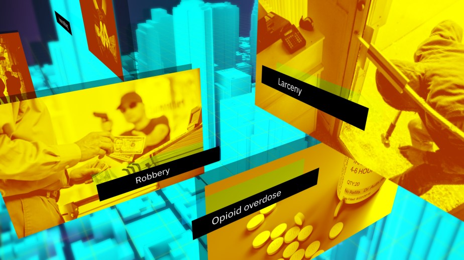 Managing Digital Evidence with IBM. Aerial City Map in 3D.