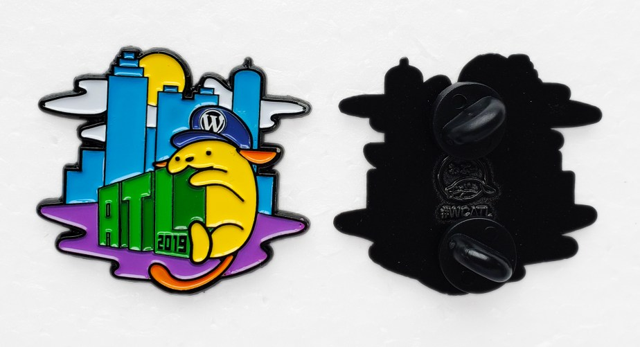 Enamel Pins for WordCamp Atlanta 2019 Wapuu