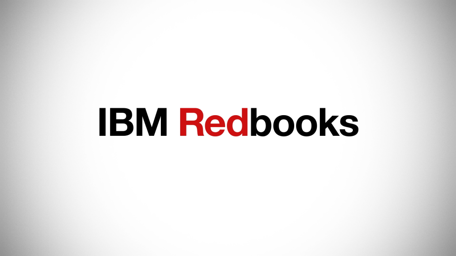 Motion graphics sequence of the IBM  Redbooks logotype.