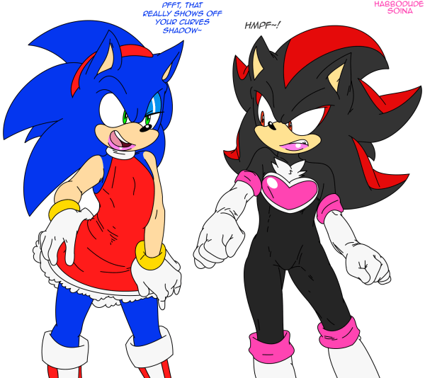 Sonic And Shadow Lovely Crossdressing Hedgehogs by