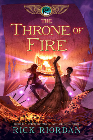 The Throne of Fire Book Cover