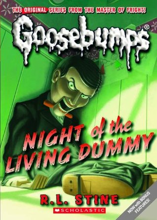 Night of the Living Dummy (Goosebumps, #7) cover, for use in the review of Night of the Living Dummy on Sci-Fi & Scary