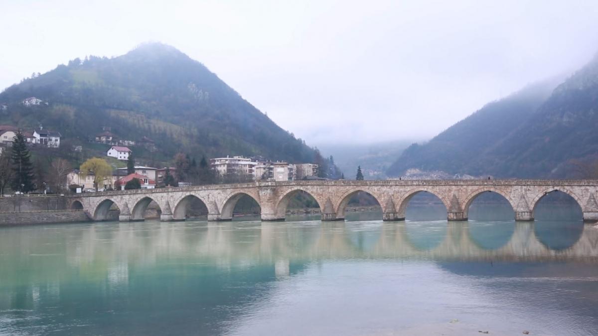 River Drina and the Bridge