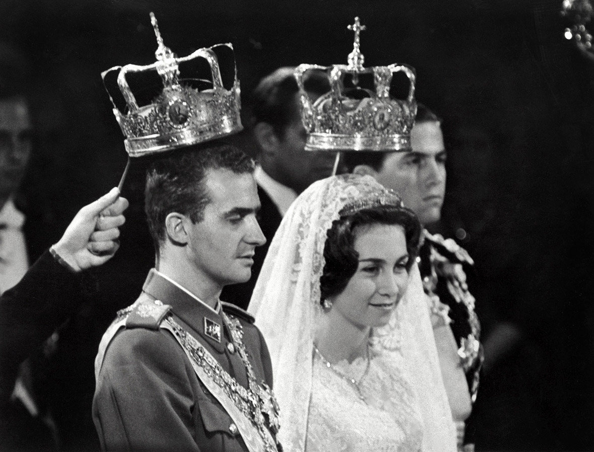 14 May 1962: Prince Juan Carlos of Spain marries Princess Sophia of Greece and Denmark, in Athens. Queen Sofia was born in Athens on 2 November 1938, the first daughter of King Paul I of Greece. Her family was forced to flee Greece during World War II. She was Greek Orthodox but converted to Roman Catholicism
