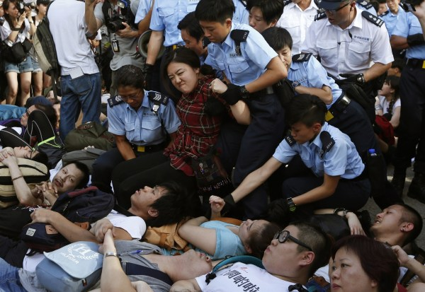 Hong Kong Police Arrest Hundreds of Protesters at Pro ...