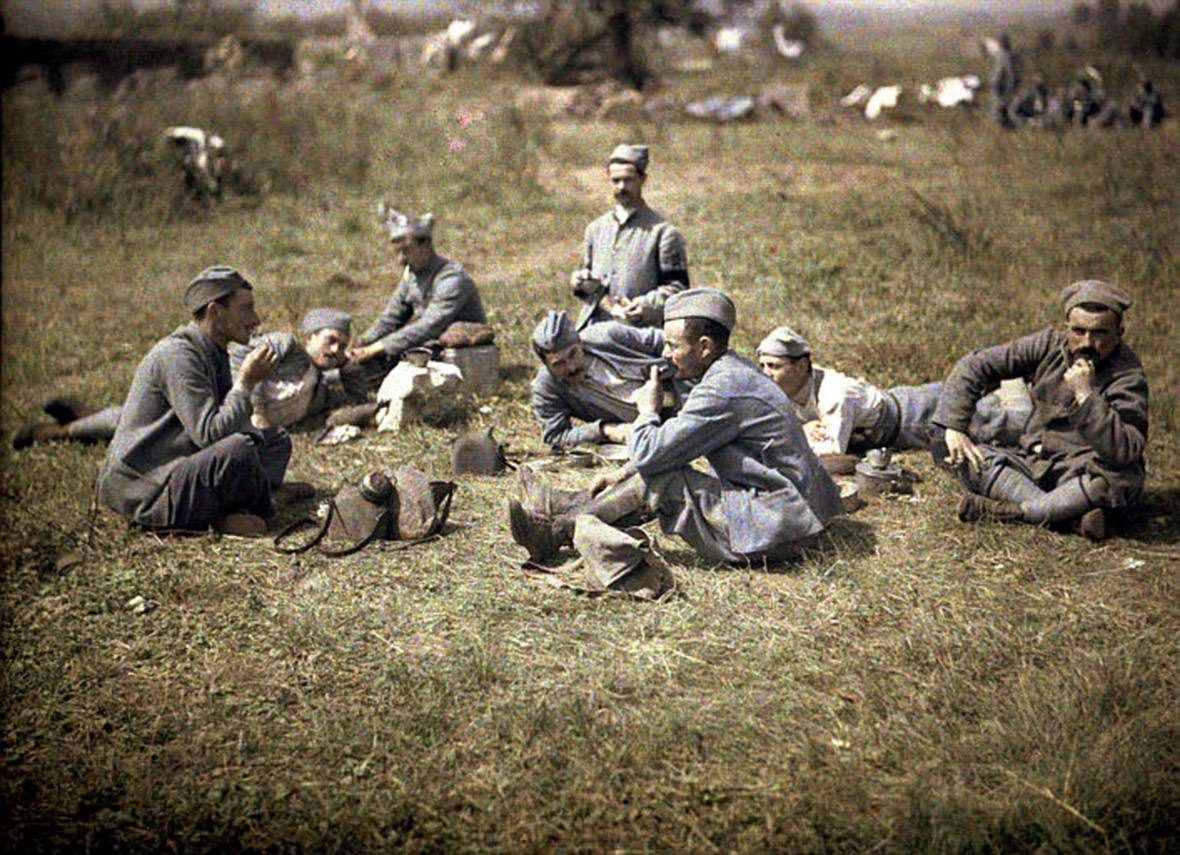 Wwi 100th Anniversary Rare Colour Photos From The