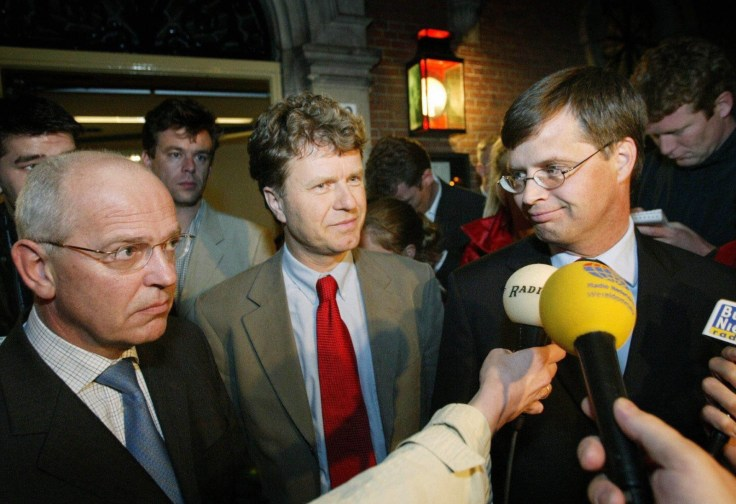 Boris Dittrich, the 'founding father' of gay marriage in Europe, with former PM of the Netherlands Jan-Peter Balkenende(Getty)
