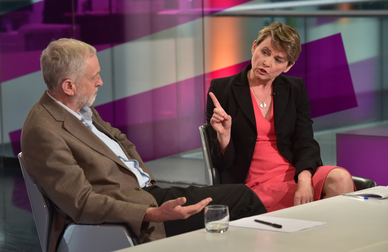 Image result for pics of yvette cooper attacking corbyn