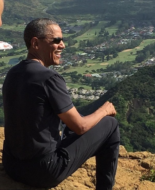 President Obama surprises hikers during mountain trek in ...