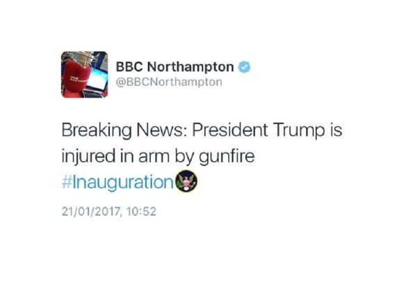 BBC tweets President Donald Trump was shot but says hacker ...