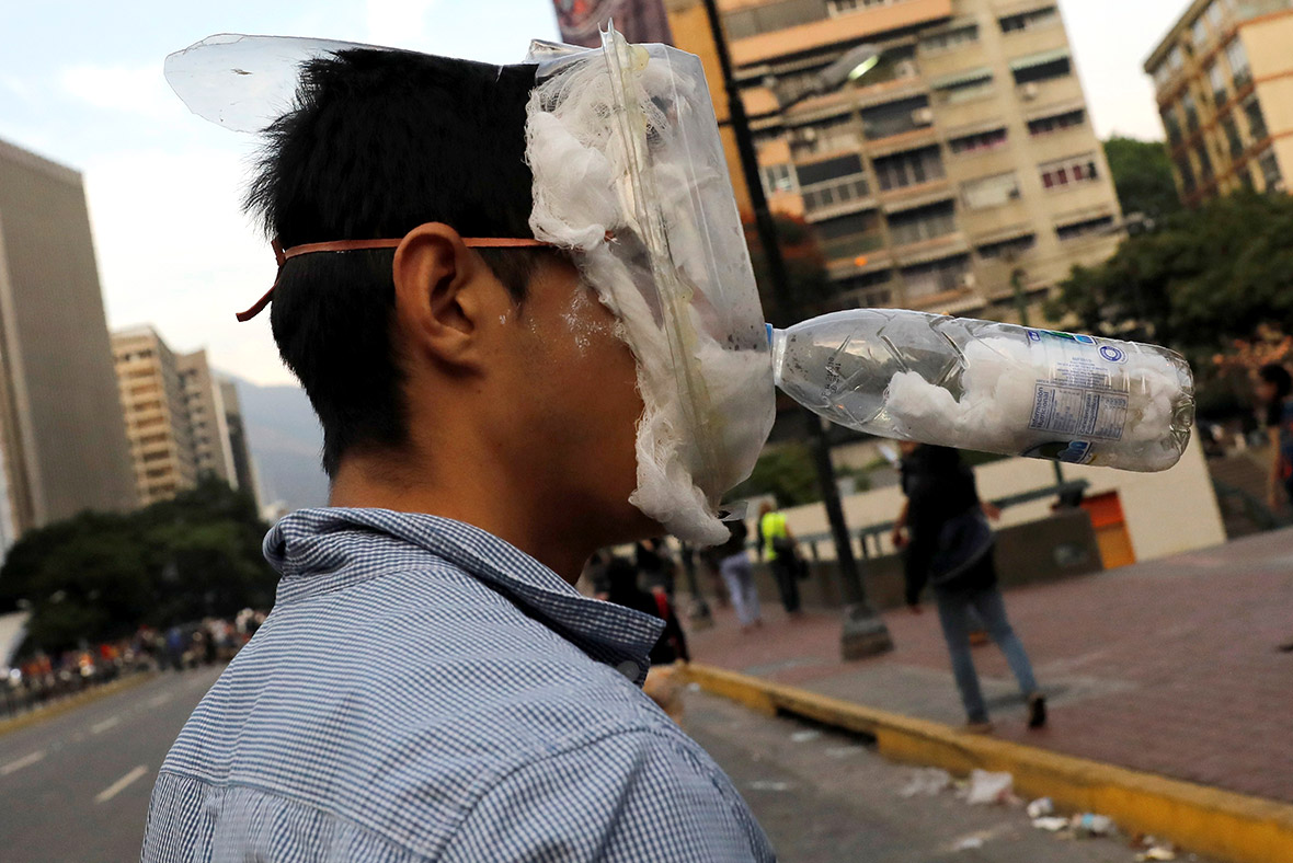 Improvised Gas Masks And Molotov Cocktails Deployed In