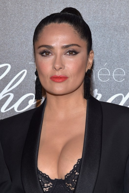 Salma Hayek stuns in racy lingerie and see-through outfit ...