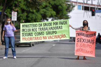 Brazil prostitutes go on strike demanding Covid vaccine as 'frontliners'