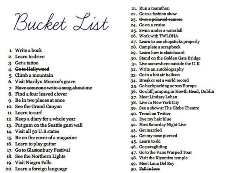 bucket list ideas for men