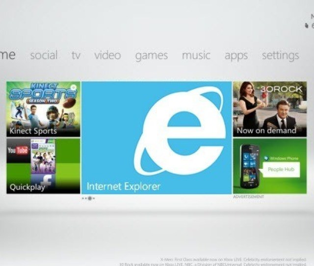 A New Software Update Which Is Set To Release This Fall According To Techcrunch Will Feature An Xbox Friendly Version Of Internet Explorer