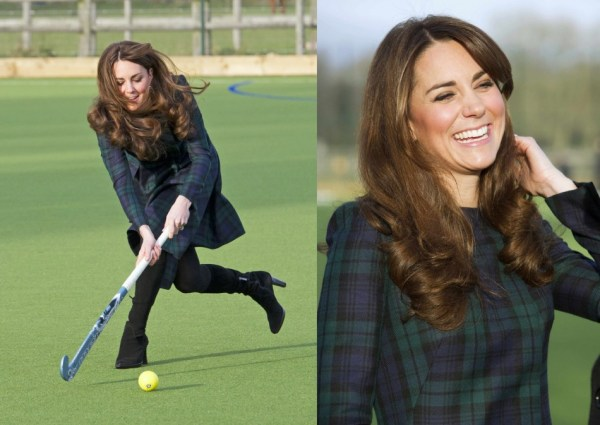 Kate Middleton Visits Her Old School, Plays Hockey in ...