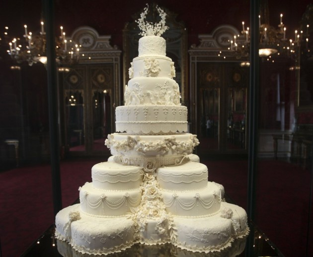 Kate Middletons Eight Tiered Wedding Cake Slice Fetches