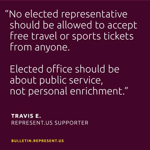 No Elected Representative Should Be Allowed To Accept Free ...