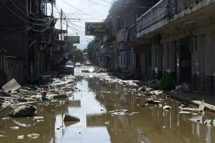 La Lima, Honduras, Hurricane Iota, November 2020
