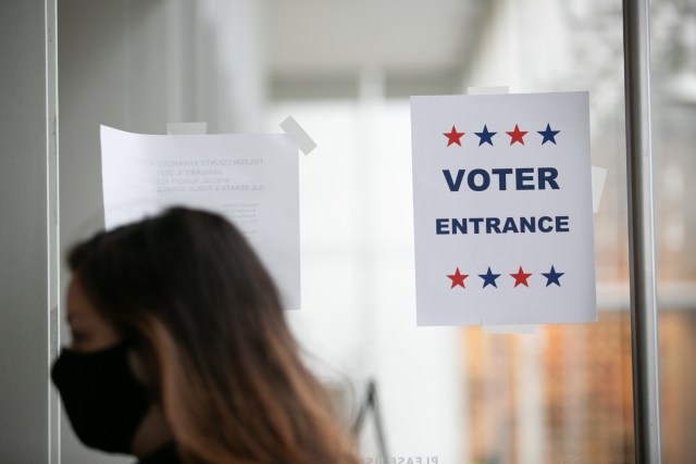 georgia voters early runoff election