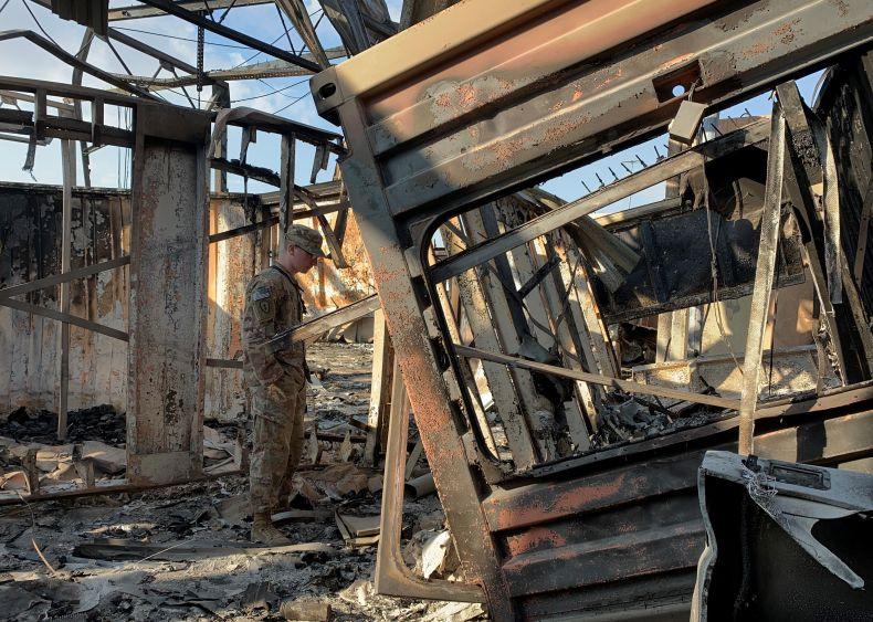 Damage at Ain Al Asad Iran attack